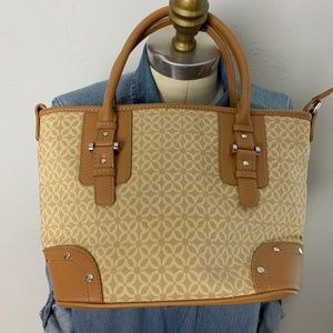 Relic East West Structured Fabric Tan Purse Bag